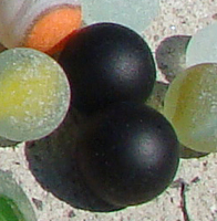 Black Sea Glass Marbles
