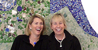 Sea Glass Article - Sea Glass Mural Graces New Visitor Center Near Boston