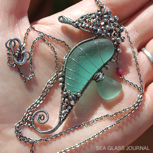 Sea glass seahorse pendant seahorse sea glass pendant aloadofball Choice Image
