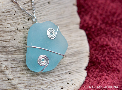 Simple Wire Wrap Sea Glass Pendant