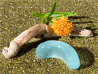 Sea Glass Photography - Large Aqua Blue Sea Glass