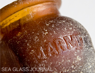 Marmite Sea Glass Bottle, Photo 2