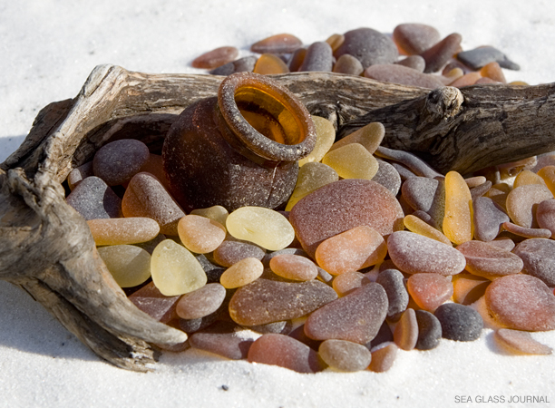 Marmite Sea Glass Bottle, Still Life Photo