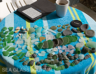 Sea glass collected at the Dockyard, Bermuda