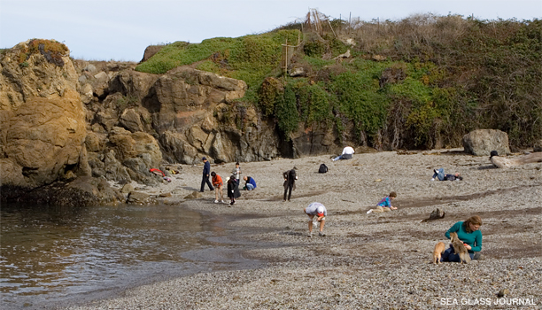 Collecting Sea Glass at Glass Beach, Fort Bragg