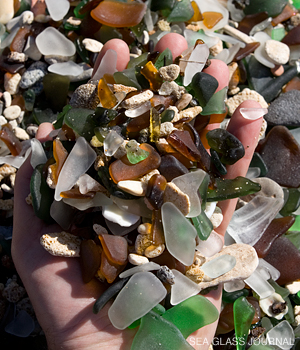 Bermuda Sea Glass - Dockyard Beach
